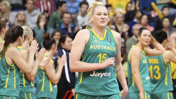 Lauren Jackson con la selección australiana.
