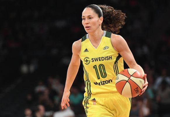 Sue Bird, máxima asistente de la WNBA.