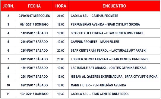 Calendario de retransmisiones de la Liga DIA en Teledeporte