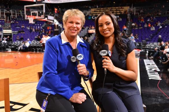 Ann Meyers y Stephanie Ready, se convirtieron en las primeras mujeres en retransmitir un partido de la NBA