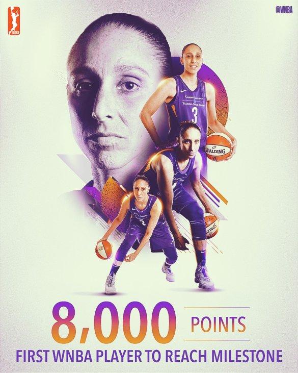 Diana Taurasi, primera jugadora en llegar a los 8.000 puntos anotados en la WNBA