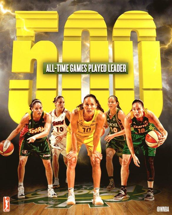 Sue Bird se convierte en la jugadora con más partidos disputados de toda la historia de la WNBA