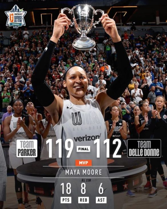 Maya Moore, MVP del WNBA All-Star