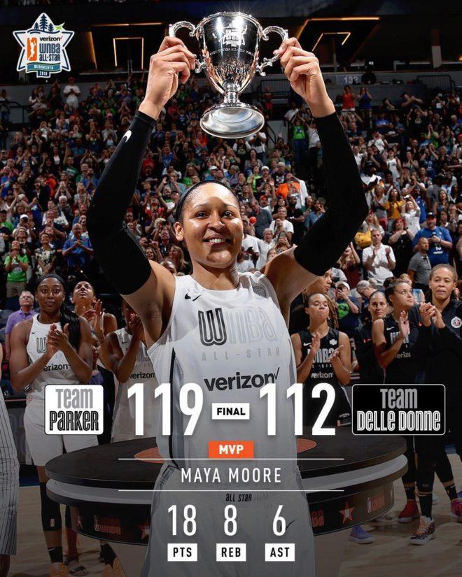Maya Moore, MVP del WNBA All-Star