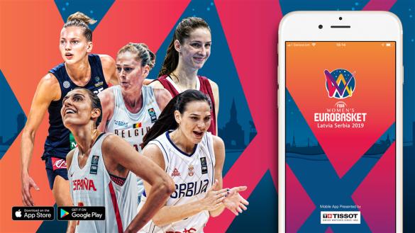 Aplicación oficial del Eurobasket de Serbia y Letonia