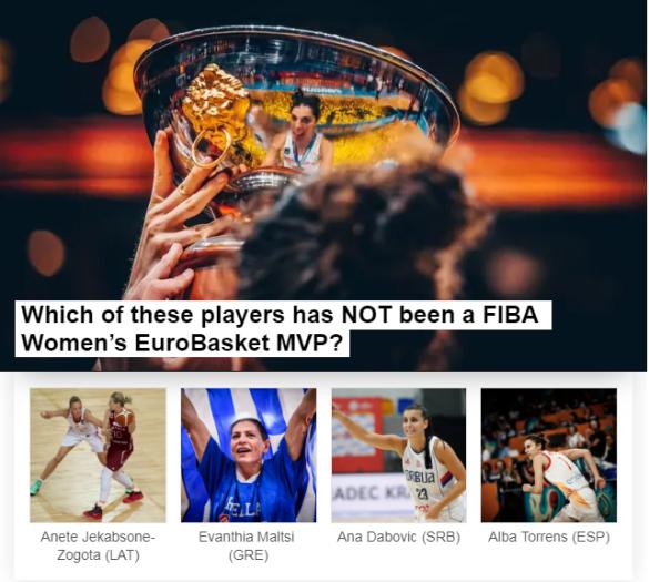 FIBA propone un test de conocimientos sobre la historia del Eurobasket