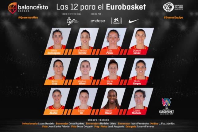 Eurobasket Serbia y Letonia: España confirma a sus 12 jugadoras