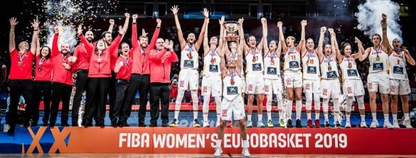 Eurobasket Serbia y Letonia: España celebra el oro conseguido ante Francia. Foto: fiba.basketball