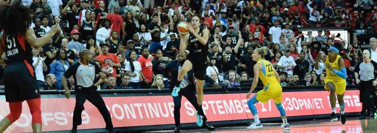 WNBA Plaoyffs: Dearica Hamby da la victoria a Las Vegas Aces con un triple desde mediocampo