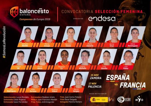 Convocatoria de España para los amistosos contra Francia
