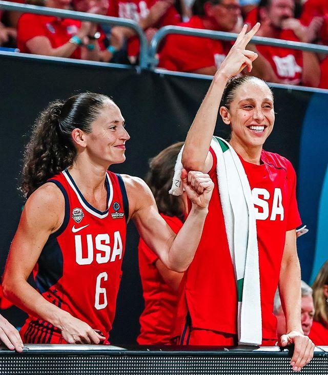 Diana Taurasi y Sue Bird lideran a Estados Unidos en la preparación para Tokio 2020