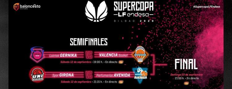 Supercopa Liga Femenina Endesa: Horarios y enfrentamientos