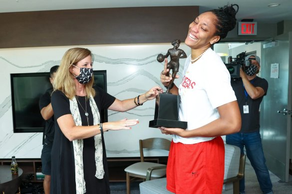 WNBA: A'ja Wilson nombrada MVP de la temporada