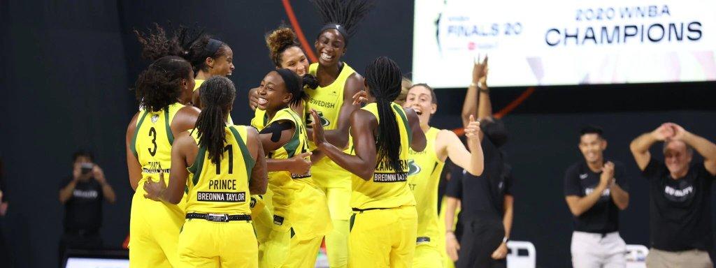 WNBA Finals: Seattle Storm celebrando el anillo tras derrotar a Las Vegas Aces