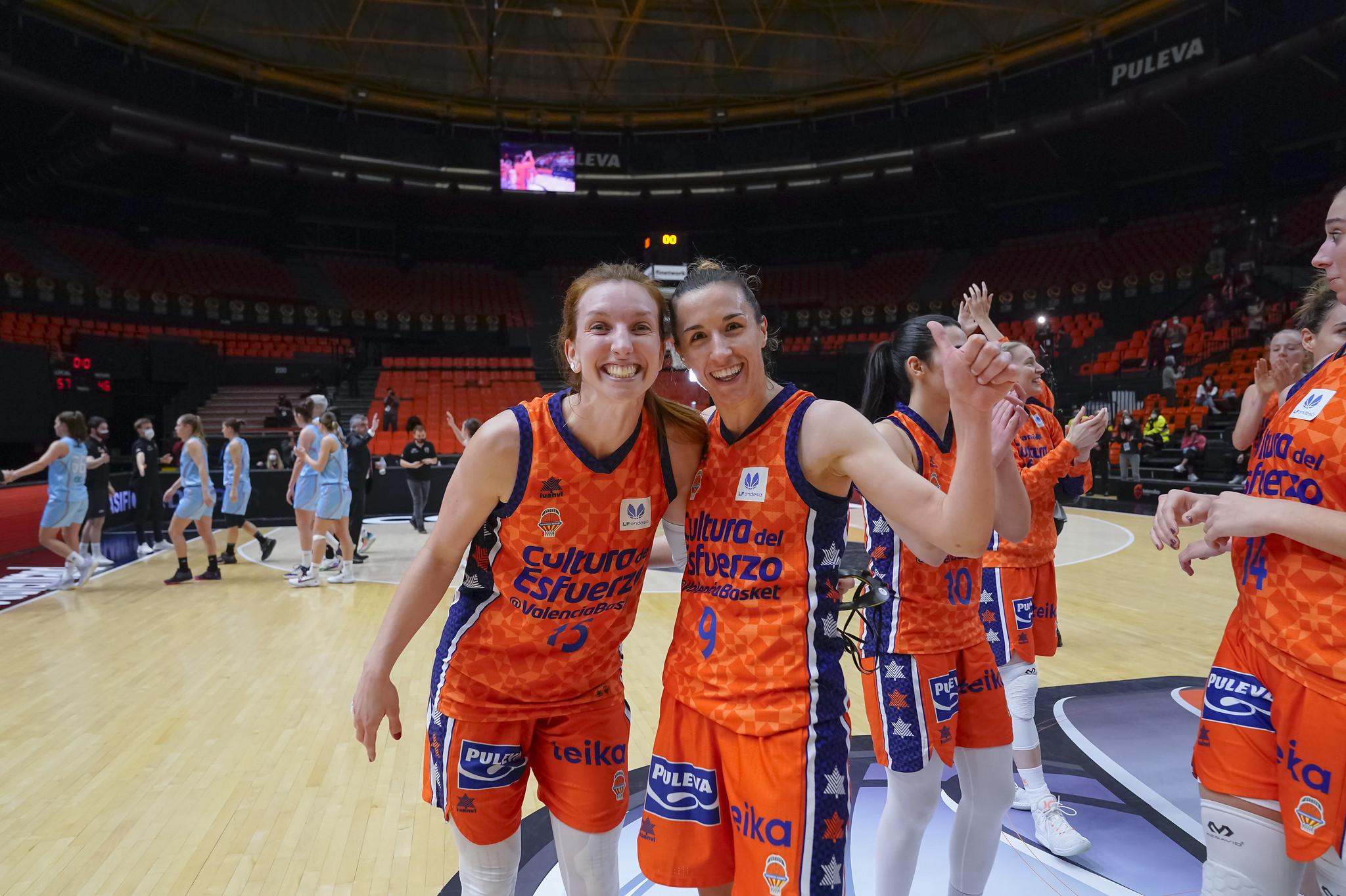Valencia Basket celebra el pase a la final de la Copa de la Reina Liga Femenina Endesa