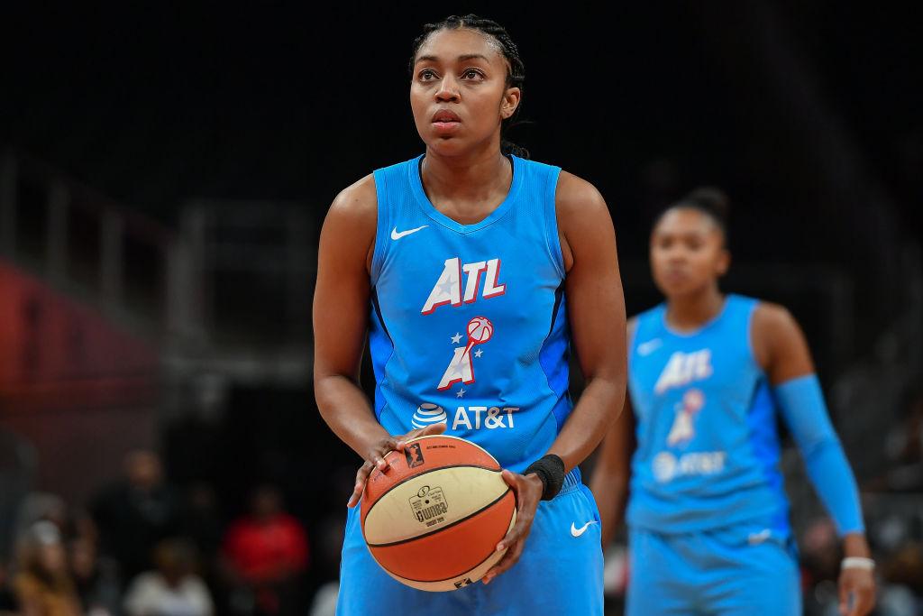Renne Montgomery con las Atlanta Dream de la WNBA