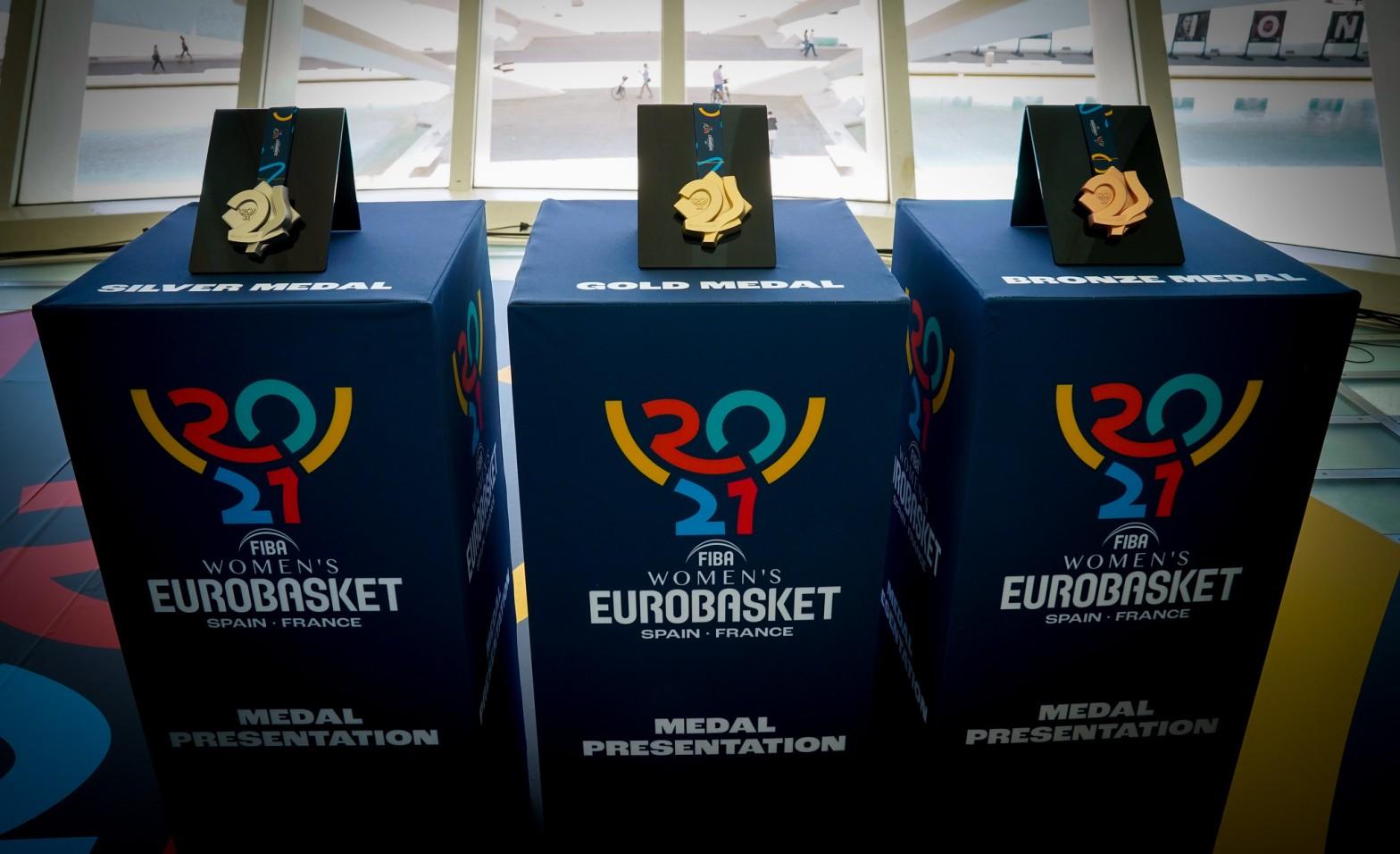 Medallas del Eurobasket de España y Francia 2021
