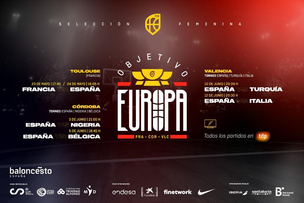 Eurobasket España y Francia: Partidos de preparación de la selección femenina