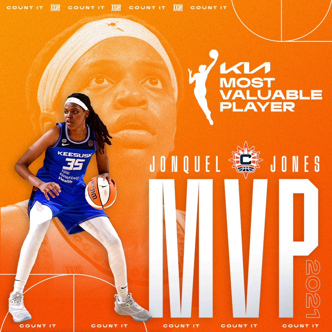Jonquel Jones MVP de la temporada regular de la WNBA